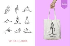 Yoga meditation hands in mudra bundle Product Image 2