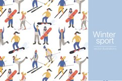 Winter sport people characters Product Image 1