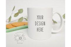 Mug Mockup | 11oz Coffee Cup Mock up with cookies Product Image 1