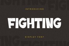 Web Font Fighting Font Product Image 1