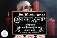 The Wicked Wicks Candle Shop SVG, Halloween SVG, Sign SVG Product Image 1