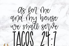 As For Me and My House We Shall Serve Tacos 24/7 SVG Product Image 2