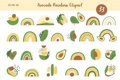 Avocado and Rainbow Seamless Patterns, Nursery Digital Paper Product Image 2