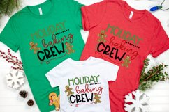 Christmas - Kitchen - Cookie - Holiday Baking Crew SVG Product Image 2