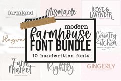 Modern Farmhouse Font Bundle - Fonts for Crafters Product Image 1