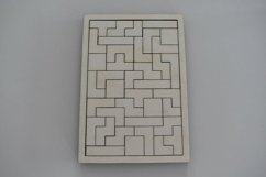 Wooden Puzzle Tetris Game- Glowforge Laser ready file Product Image 2