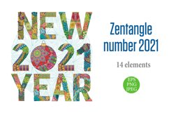 Decorative numbers 2021 Product Image 1