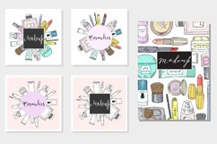 Hand drawn vector cosmetics set. Makeup. Product Image 3