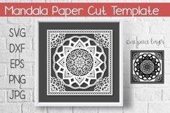 Mandala Paper Cut Template Design SVG Product Image 1