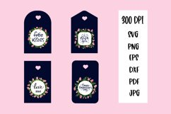 Valentine Gift Tags PNG. Valentines day quotes Product Image 1