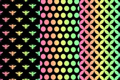 Bee Digital Papers, Rainbow Bee Seamless Patterns Product Image 2
