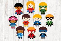 Superhero clipart bundle, boys and girls Product Image 3