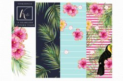 Tropical summer Seamless Travel pattern tiles. Product Image 6