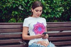 Pink Flamingo Mandala SVG Sublimation and Weeding Design Product Image 2