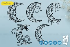 Moon svg bundle, Celestial Svg Png Pdf Eps Dxf, Moon svg Product Image 1