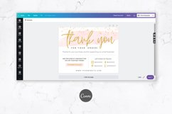Thank You Card for Canva | Printable | Pink & Gold Product Image 3