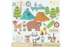 Boys Camping Clipart Product Image 1