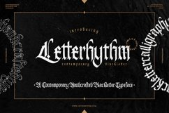 Letterhythm Contemporary Blackletter Typeface Product Image 1