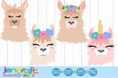 llama face svg, alpaca svg, llama bundle svg, Eyelashes Head Product Image 1
