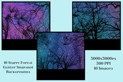 Starry Forest Glitter Snapshot Backgrounds - 10 Image Set Product Image 3