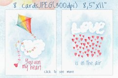 Romantic watercolor set. Love is in the air Product Image 4