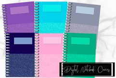 Six Glitter Decorated Digital Notebook/Planner Covers Product Image 1