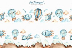 Air transport 2. Watercolor clipart Product Image 6