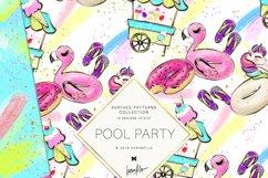 Summer Patterns, Unicorn Flamingo Digital Paper Product Image 4