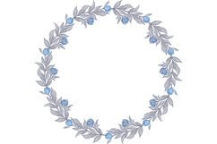 Vector Clipart with blue peonies flowers Product Image 1