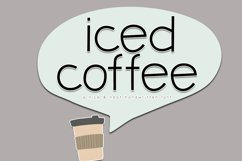 Iced Coffee - A Handwritten Font Product Image 1