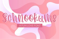 Schnookums A Fun Love Font Product Image 1