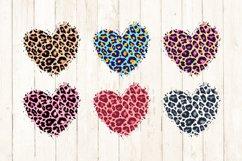 Sublimation Background Bundle, Leopard Skin Distressed Heart Product Image 3