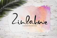 Zimbabwe. A handwritten script font Product Image 1