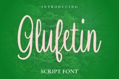 Web Font Glufetin Font Product Image 1