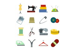 Sewing flat icon Product Image 1