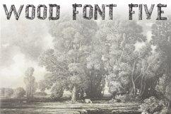 Wood Font Five Product Image 1