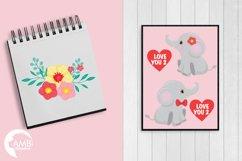 Happy Valentine clipart, Jungle animals clipart, graphics illustrations AMB-596 Product Image 4