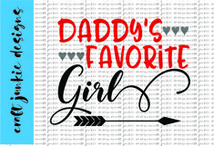 Daddy's Favorite Girl SVG Product Image 1