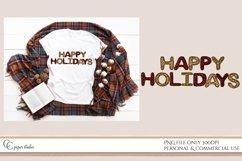 Sublimation design - Happy holidays - Tartan & Cheetah Product Image 3