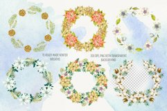Watercolor winter wreath. Christmas wreath clipart Product Image 2