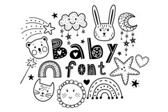 Baby cute font Product Image 1