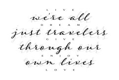 Were all just travelers quote design Product Image 2