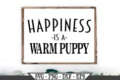 Happiness Is A Warm Puppy SVG Product Image 1