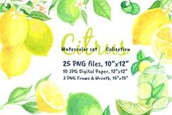 Watercolor set Lemonade Citrus Graphics Product Image 1