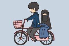 Muslim Hijab Character Vector Illustration Product Image 5