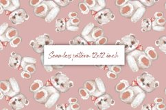 Digital paper with Teddy 1. Seamless pattern design Product Image 1