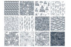17 Doodle patterns for pillow design Product Image 2