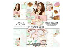 Planner Girl Digital Paper Pack Planning Fashion Product Image 1