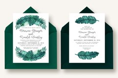Tropical Leaves Invitation Suite Product Image 3
