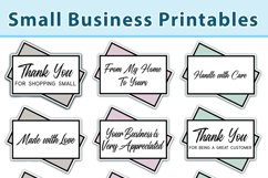 Small Business Printable Stickers, Cards Vol 1, Print & Cut Product Image 2